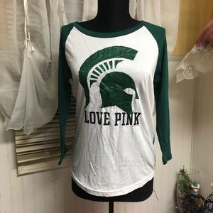 Victoria's Secret PINK MSU Spartans Top